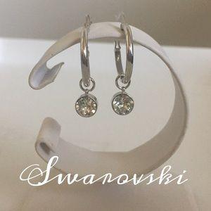 Swarovski Jewelry - Swarovski Huggie Earrings