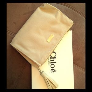 Chloe Handbags - Chloe Canvas Tassel Clutch
