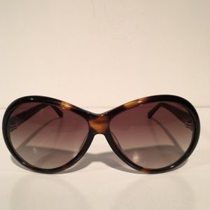 Tom Ford Accessories - Tom Ford Geraldine Brown Oval Sunglasses NIB