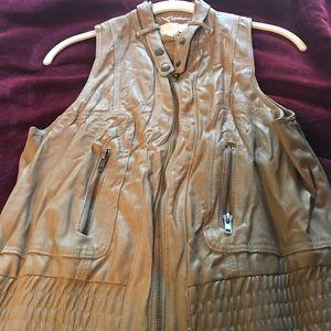 Barr111 faux leather vest worn once size med
