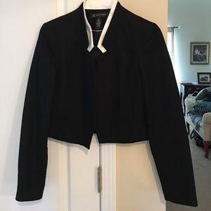 INC International Concepts Jackets & Blazers - INC Black and White crop jacket