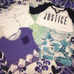 Justice Other - 5 justice shirts ... all the same size!