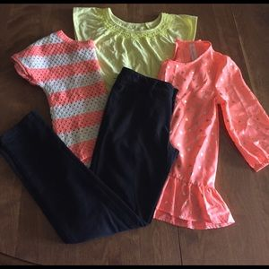 4 pc Girls Size 10/12 Assorted Outfit Bundle - G8