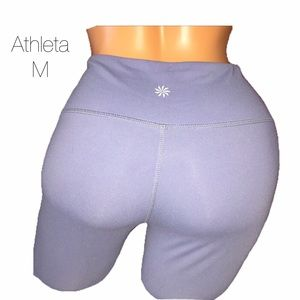 Athleta Purple Full Length Workout Leggings Medium
