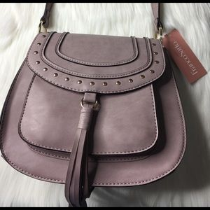 NEW Franco Sarto Rex Saddle Crossbody Lilac