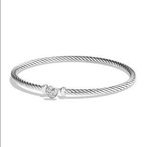 🌹SOLD🌹David Yurman Cable Heart Diamond Bracelet