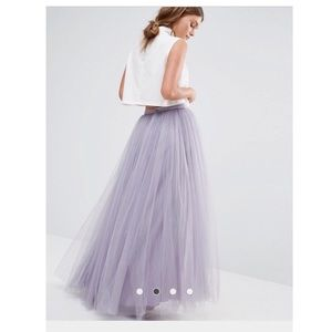 ASOS Dresses & Skirts - Lilac Tulle Maxi Skirt
