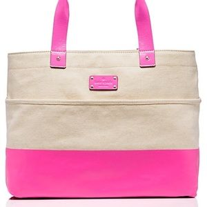 kate spade Handbags - NWOT Kate Spade Pink Horseshoe Cove Magazine Tote