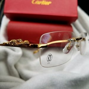 Cartier Other - NEW AUTHENTIC CARTIER PANTHER RIMLESS GLASSES