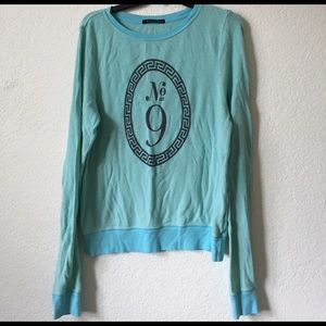 Wildfox No 9 mint pullover jumper sweater oversize