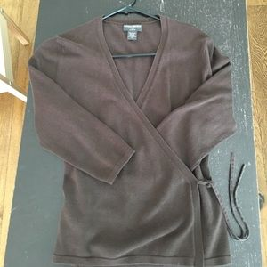 Brown Banana Republic Wrap Cover up Sweater