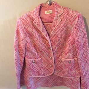 Talbots Dresses & Skirts - Pink Boucle knit suit