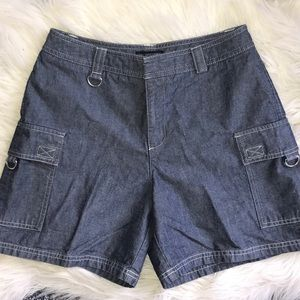 Dockers Pants - Dockers Denim Wide Leg Cotton Cargo Shorts 4