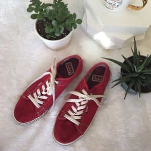 Vans Shoes - 🎇SALE🎇 Red & White VANS Sneakers, Lace-Up Shoes