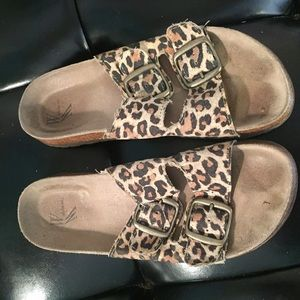 White Mountaineering Shoes - Leopard sandals. Cork bottom. Excellent quality!