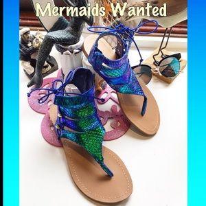 lilianna Shoes - Mermaids Wanted hologram t-strap sandal var sz