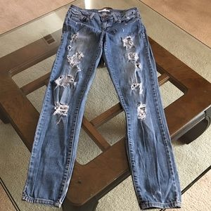 2.1 denim Denim - 2.1 skinny sz 28 destroyed jeans
