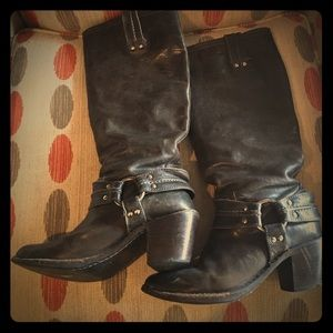 Frye Shoes - Frye brown w grey undertone tall boots
