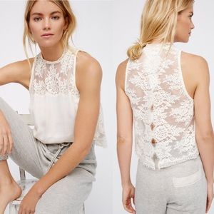 Free People Tied To You Lace Back Top