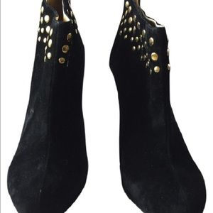 Hypnotic Shoes - Hypnotic Women's Suede Black Ankle Booties