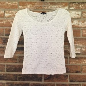 Ambiance Apparel Tops - Ambiance lace top