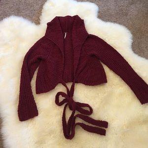 Free People Knit Wrap Sweater Size Medium