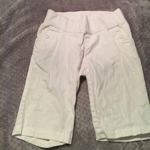 Motherhood Maternity Pants - White Motherhood Maternity Bermuda Shorts