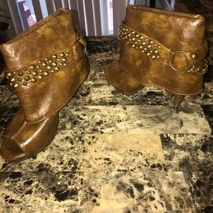 """Breckelles Shoes - """"Gorgeous Peep Toe Heeled Boots"""""""