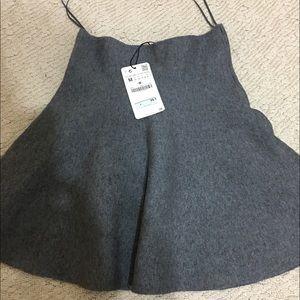 Zara gray knit skirt