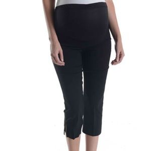 Tutu Fashion Pants - Maternity Over-the-Belly Cropped Pants