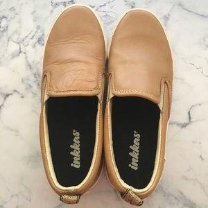 Inkkas tan leather sneakers
