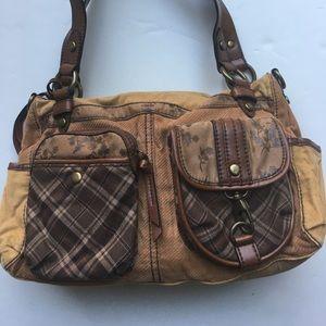 FOSSIL Handbags - 👜FOSSIL Corduroy Purse Bag Leather Trim