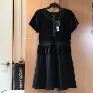 Marc jacobs black velvet dress