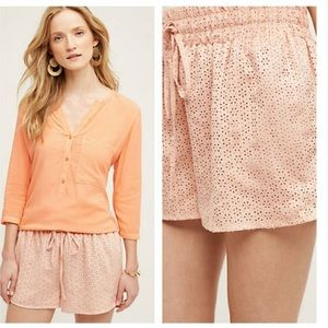 Anthropologie Pants - 🆕Anthropologie• Perforated Suede Shorts