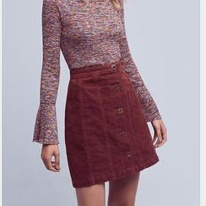 Anthropologie Pilcro Corduroy Skirt