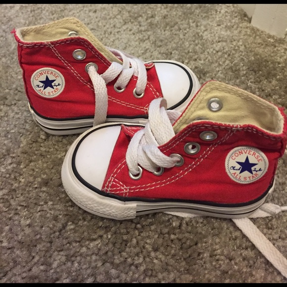 51c52ef565ec12 Converse Other - 🎉 Converse All Star red high top baby boy size 3