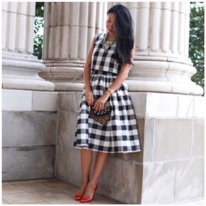 T&J Designs Dresses & Skirts - T&J Designs plaid check skirt in black & white