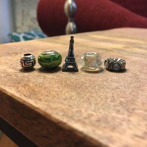 Kay Jewelers Jewelry - Set of 5 Pandora-like Charm Beads (Kay Jewelers)