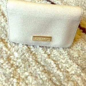 Furla Handbags - Furla credit card holder tan leather wallet