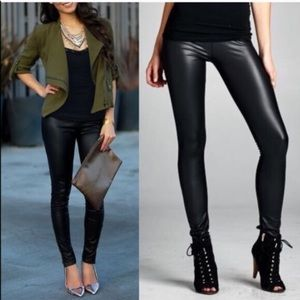 1 HR SALEDEBORAH slick leggings - BLACK