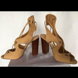 SCHUTZ Shoes - Schutz nude lace up block heel NWT