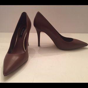 White House Black Market elegant leather heels