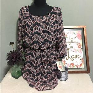 Lily Rose Dresses & Skirts - LILY ROSE- Chevron Dress