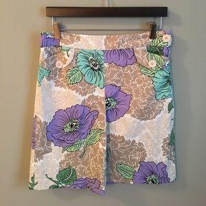 LOFT Dresses & Skirts - NWOT | LOFT Cotton Floral Pleated Skirt