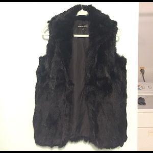 Adrienne Landau Jackets & Blazers - Real Black Rabbit Fur Vest