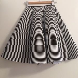 New, beautiful full striped skirt!