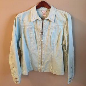 CAbi Jackets & Blazers - NWT Cabi Teal Denim Jacket