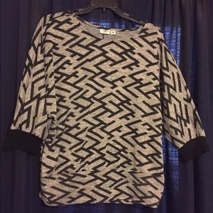 Cato Tops - NWOT Cato Graphic Knit Shirt