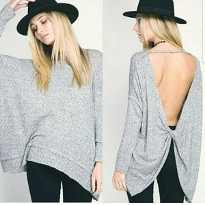 She and Sky Tops - Sneak Peek Knotted Pullover