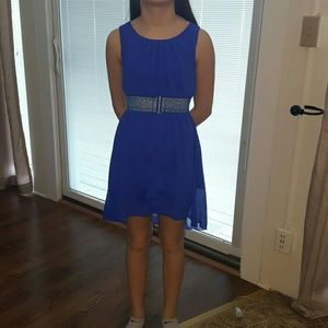 Iz girl dress size 10 blue